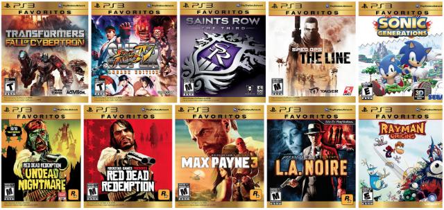 Favoritos PS3