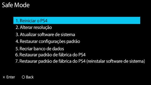 Modo de Segurança PS4