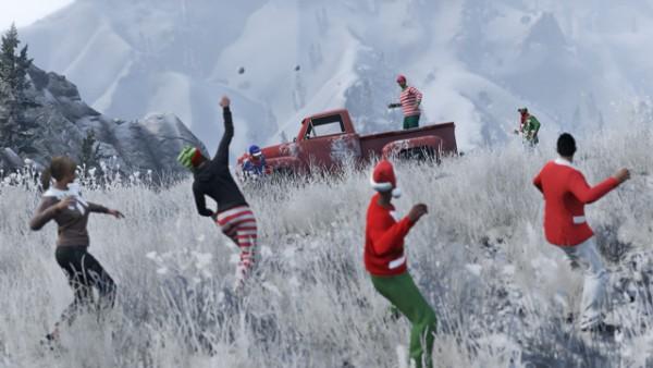 Luta com bolas de neve