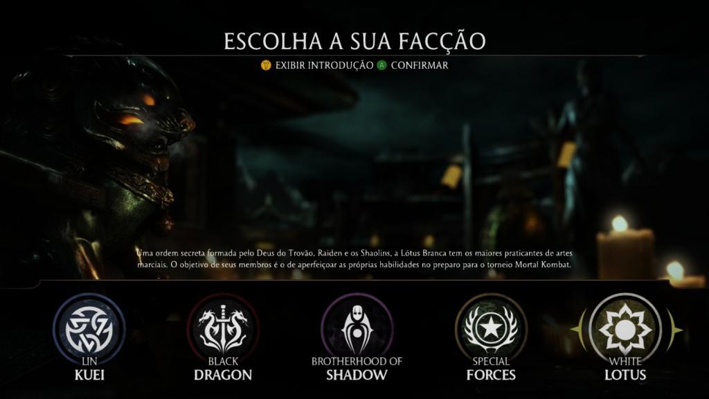 Mortal Kombat X - Facções
