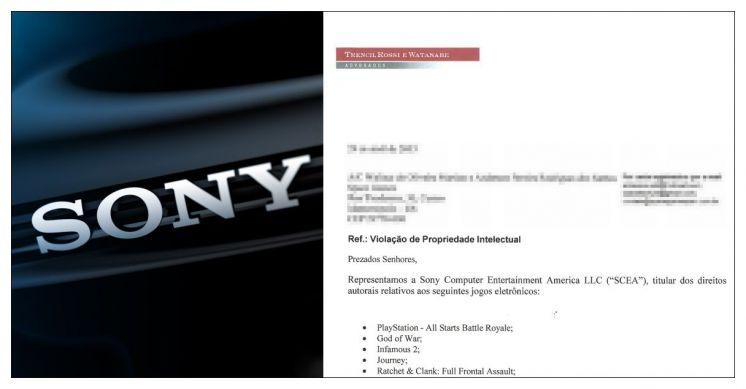 Notificação Sony