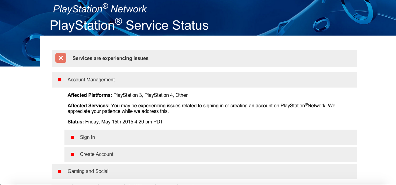 PSN Offline
