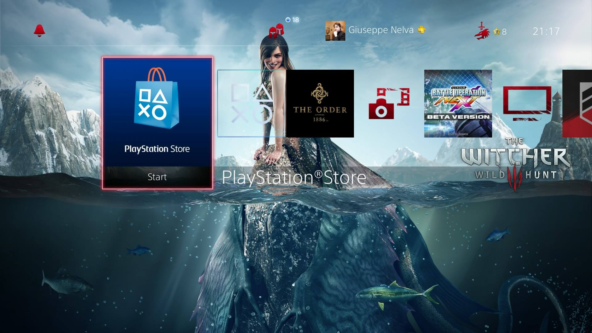 Tema PS4 The Witcher 3
