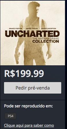 Uncharted - Pré-venda