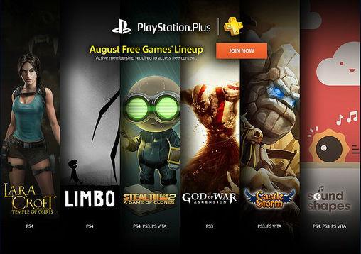 PlayStation Plus Agosto 2015