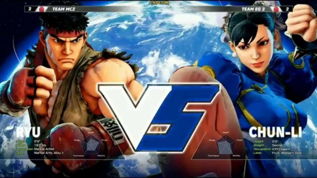 Street Fighter V - Tela Versus