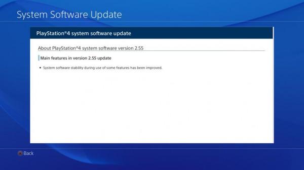 Update 2.55 PS4