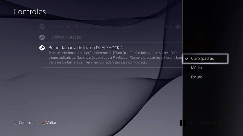 Recursos do PS4 - Lightbar DS4