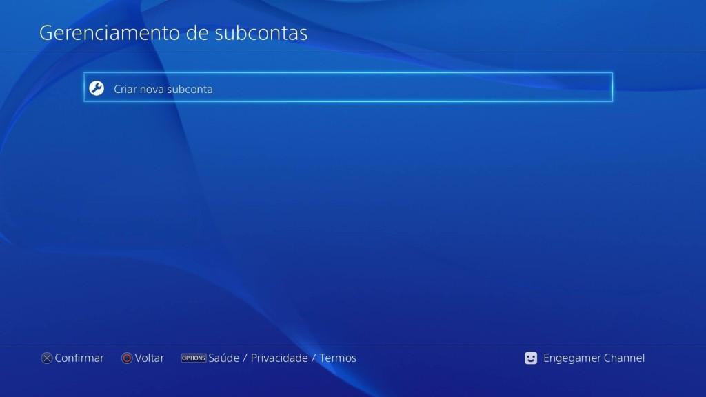 Subconta PSN