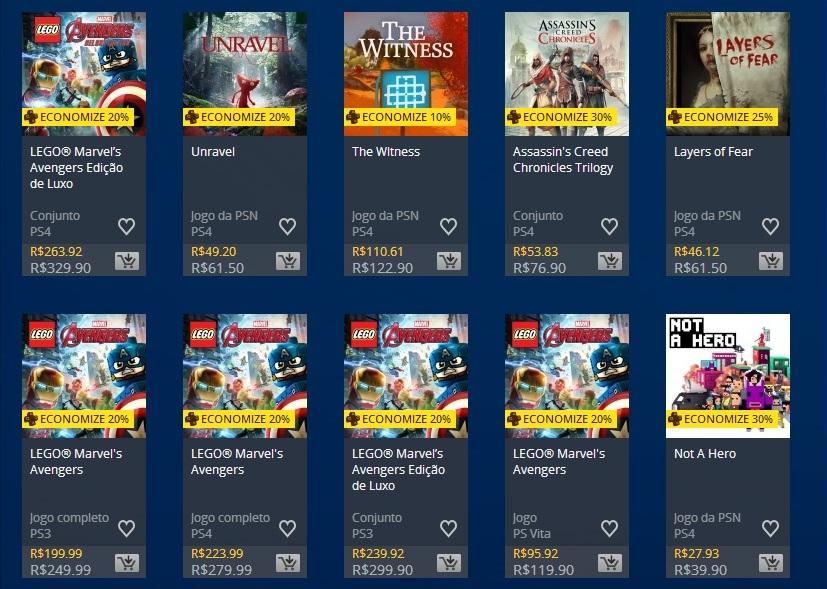 PlayStation Plus especiais ofertas