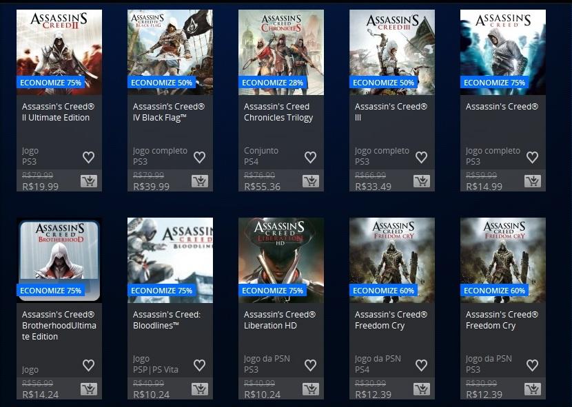 Promoção PSN Assassins Creed 2