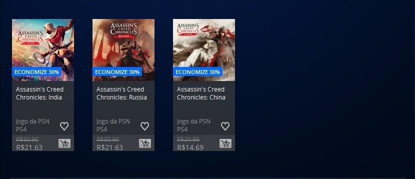 Promoção PSN Assassins Creed 3