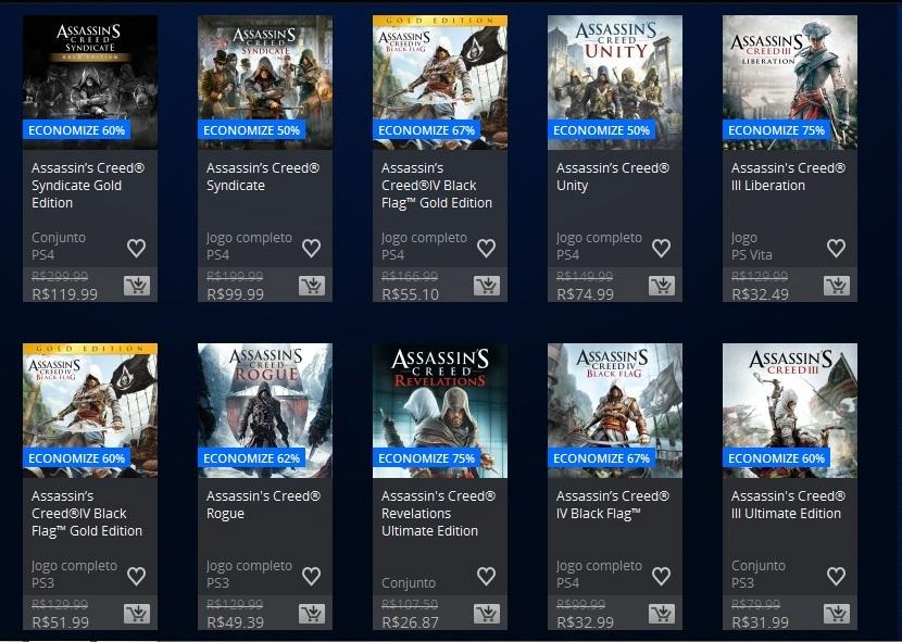 Promoção PSN Assassins Creed