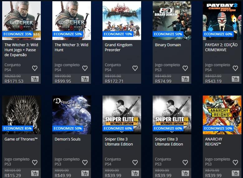 PS Store - Promoção 1