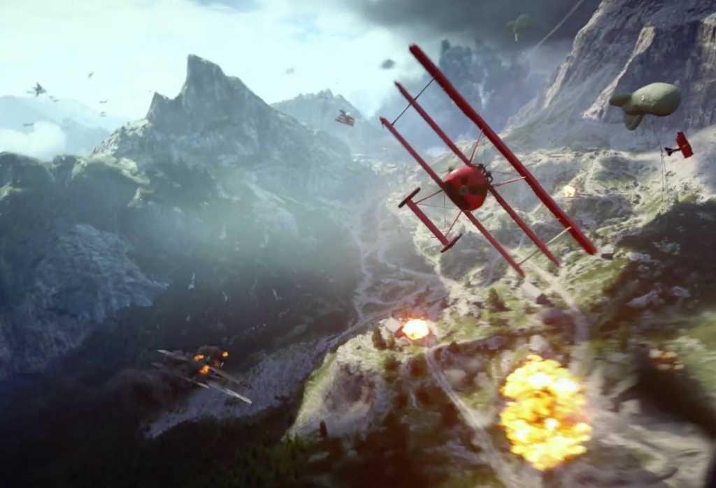 Batalhas entre aviões devem ser um ponto alto de Battlefield 1
