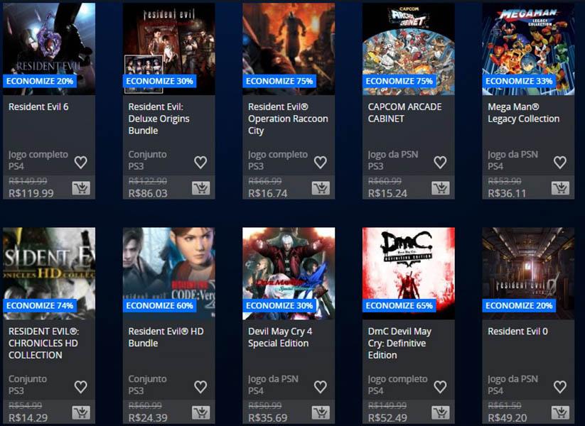 Promoção da Semana - Capcom 2