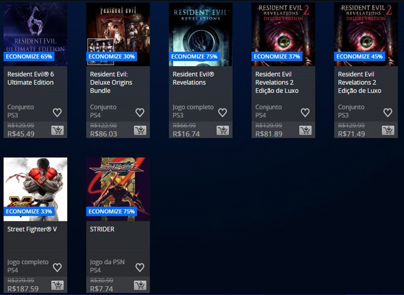 Promoção da Semana - Capcom 3