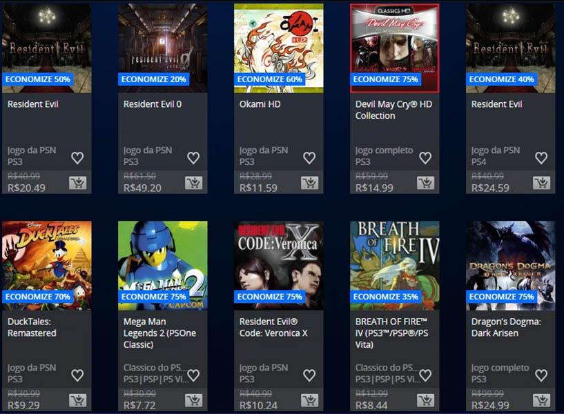 Promoção da Semana - Capcom