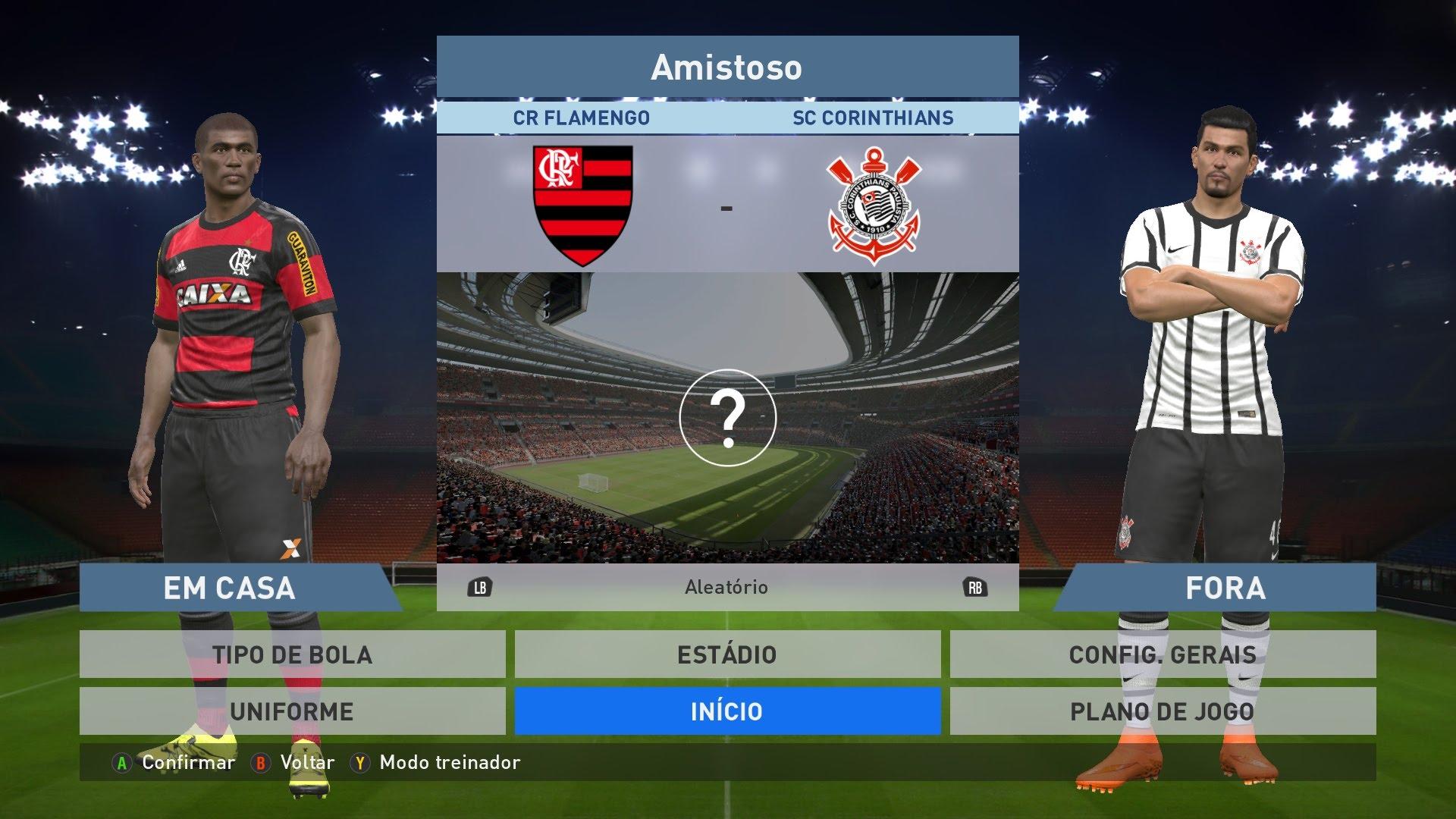 Flamengo e Corinthians PES