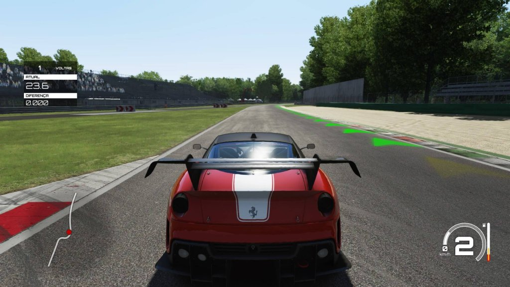Esta imagem é do trecho da pista de Monza, do jogo Assetto Corsa...