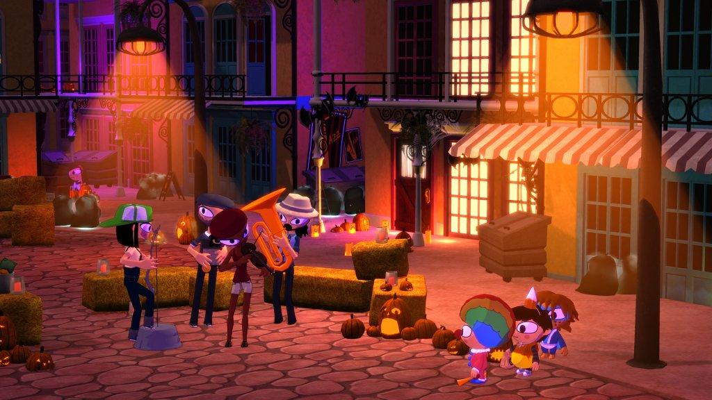 O jogo captura bem o espírito do Halloween.