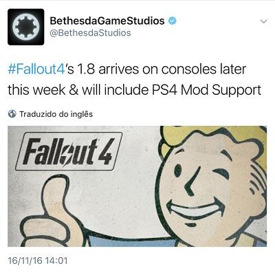Fallout 4 - mod - twitter