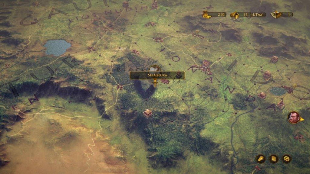 Mesmo podendo se mover apenas um espaço por vez, o jogador percebe que toda Gildlegard se move com ele.