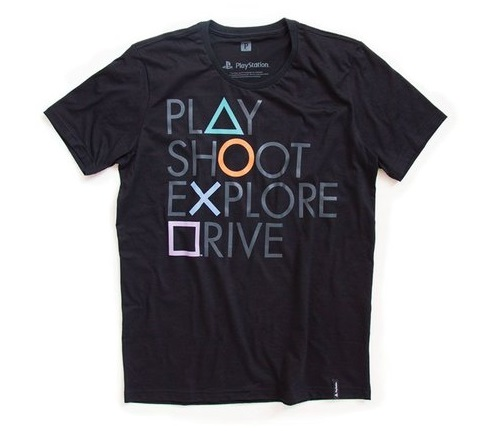 Camisetas - PlayStation Botões